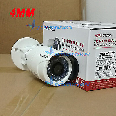 4mm Hikvision Waterproof DS-2CD2042WD-I 4MP POE IR Bullet Network IP Mini Camera