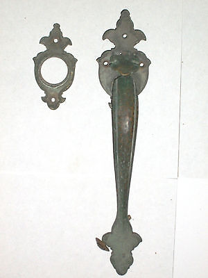 Antique Door Handle and Matching Lock Cylinder Plate • CAD $84.19