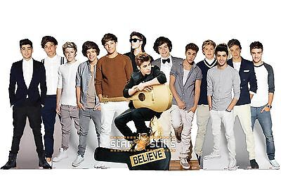 Justin Bieber & One Direction LIFESIZE CARDBOARD CUTOUT Standee Standup Cutouts!