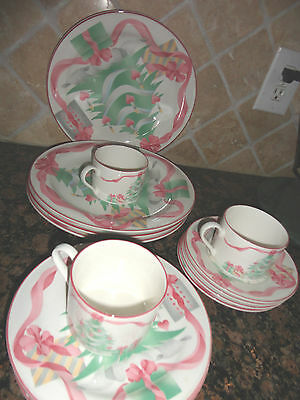 Sango Home For Christmas #3321 Set16 Piece Dinner Salad Dinner Plate Cup Saucer