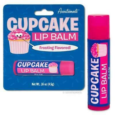 Cupcake Lip Balm Cosmetics Chap Stick Novelty Gift Kids Pin Up Kitsch Kawaii