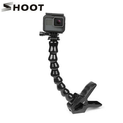 SHOOT Jaws Flex Clamp Mount Adjustable Neck Clip for GoPro Hero 8 7 6 5 4 SJCAM