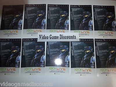 Qty 10 - HALO REACH SPARTAN HELMET DLC CODE CARD Xbox 360 - WHOLESALE RESELL