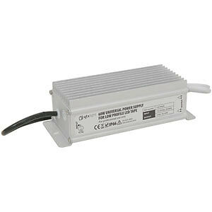 Universal 12 Volt 60 Watt Power Supply for Low Profile LED Tape Strip Lightin...