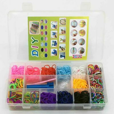 New 1x Storage Case Loom Band Kit-1500 Mix Color Loom Bands,Mini Loom,Clips,hook