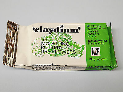 Newclay Claydium 1kg Air Drying Reinforced Modelling / Pottery Clay - White