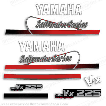 Yamaha 225hp V-X Saltwater Series Outboard Engine Decal Kit VX225 Decals  V76