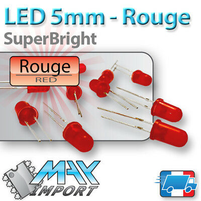 LED Rouges 5mm Diffusante ( rouge ) Lots multiples, prix dégressif