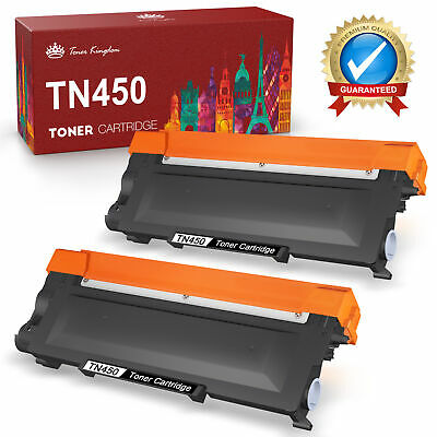 2x TN450 TN-450 Toner High Yield for Brother HL-2220 2230 2280DW IntelliFax-2840