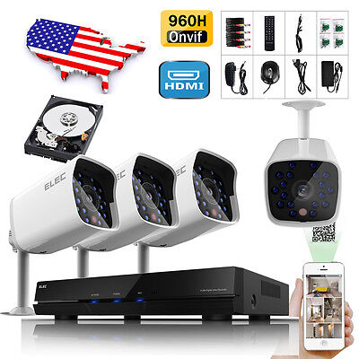 ELEC® 8CH Channel Outdoor  HDMI CCTV DVR Day Night Home Security Camera System
