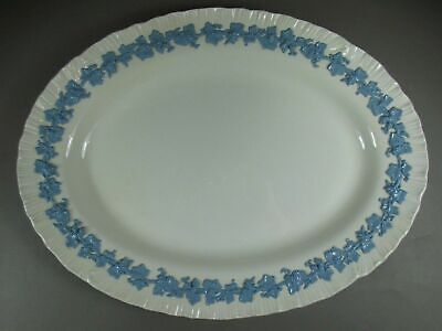 Wedgwood China  LAVENDER ON CREAM Shell Edge Oval Serving Platter 15 1/2""