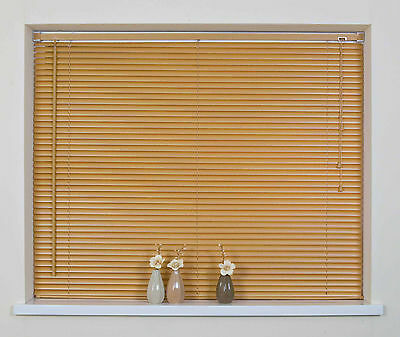 Window Blind Pvc Venetian Blinds Teak Colour Bedroom Office Strong Easy Fit