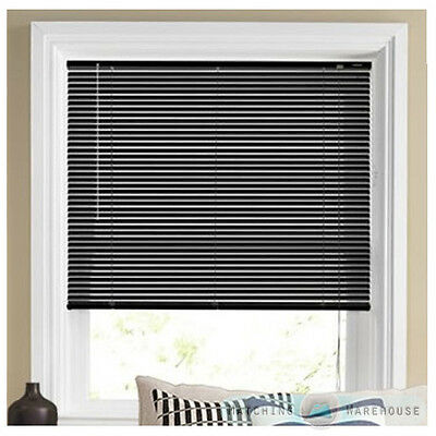 Black Pvc Window Blind Venetian Blinds Bedroom Office Strong Easy Fit New Home