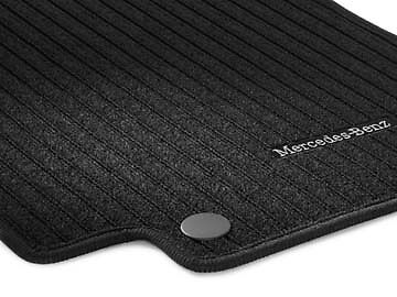 Genuine Mercedes-Benz W117 C117 CLA Black Ribbed Floor Mats NEW