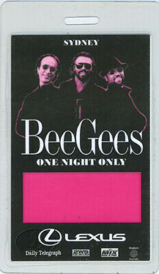Bee Gees 1999 One Night Only Laminated Backstage Pass