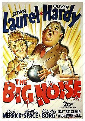 The Big Noise : Old Laurel & Hardy Film Advertising poster reproduction