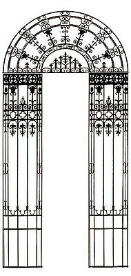 Cast Iron Entryway 19'H, c. 1880  #4877