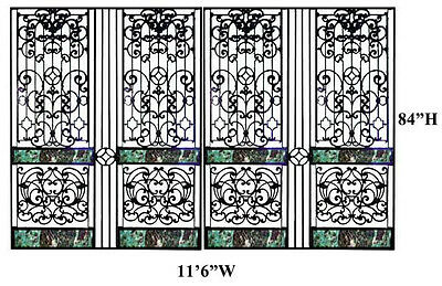 Antique Victorian Cast Iron Entry or Driveway Gates, #9188A