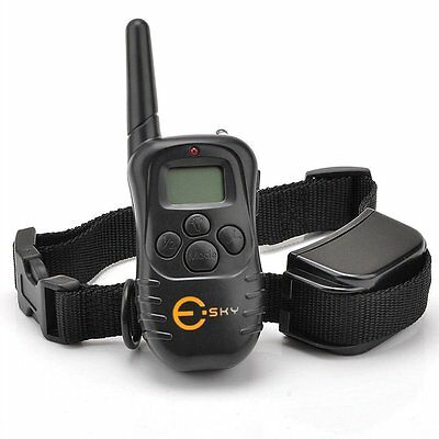 Esky Rechargable LCD Remote Control Dog Training Shock Collar with 100 Level Sho