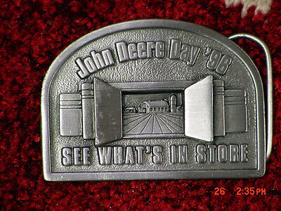 John Deere Day 1996 Pewter Belt Buckle