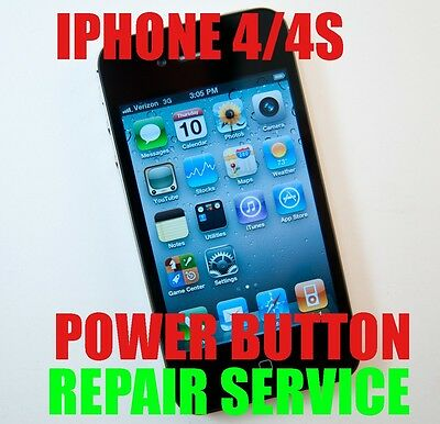 APPLE IPHONE 4 4S LOCK BUTTON REPAIR REPLACEMENT SERVICE WITH WARENTY
