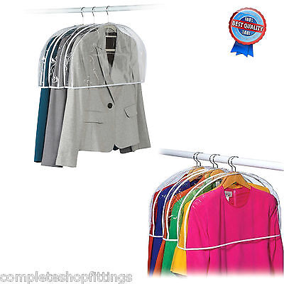 New Quality Clear Shoulder Cover Garment Clothes Suit Jacket Dress Protector Lot