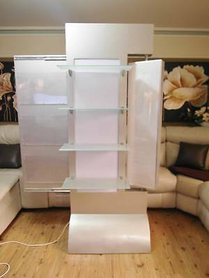 Large COMMERCIAL Home or SHOP Light up DISPLAY CASE Unit Glass SHELVES Adelaide