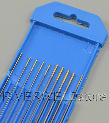 1.5% Lanthanated WL15 Gold TIG Welding Tungsten Electrode Assorted 1.0 1.6mm 10p