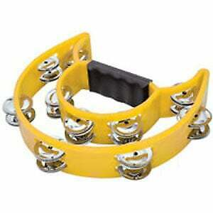Double-D Yellow Tambourine Musical Instrument - Perfect for Kids and Classrooms