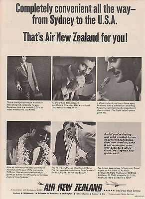 Vintage 1967 AIR NEW ZEALAND AIRLINES PLANES Advertisement