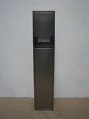 Stainless Steel Recessed Paper Towel Dispenser and Waste Receptacle