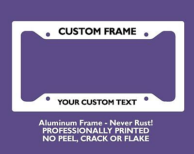 Custom Personalized License Plate Frame - License Tag Cover Frames Plastic