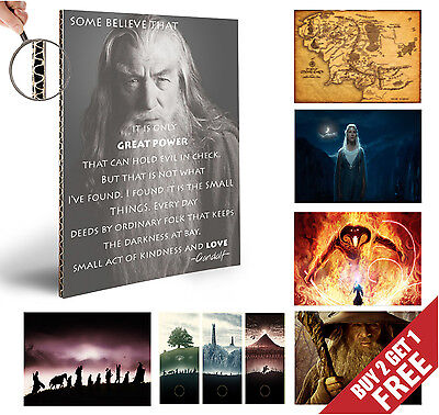 THE LORD OF THE RINGS Poster Options JRR Talkien HOME WALL DECOR LOTR A4 Print