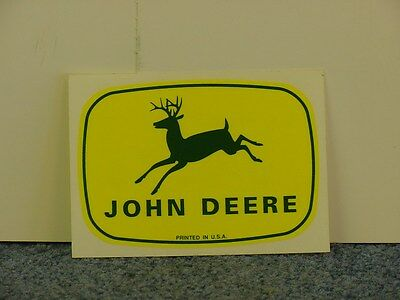 John Deere  Yellow - (2) Stickers