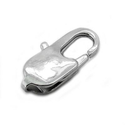 5 x Stainless Steel Lobster Jewellery Clasps - 18mm x 9mm - Rectangular