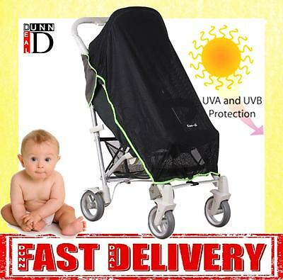 Universal Pushchair Stroller Buggy Koo-DI Sun & Sleep Blackout Blind Sun Shade