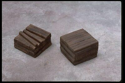 *SMC-414   2- Piece Rail Road Tie Stacks  HO, HOn30 Scale   (unfinished)
