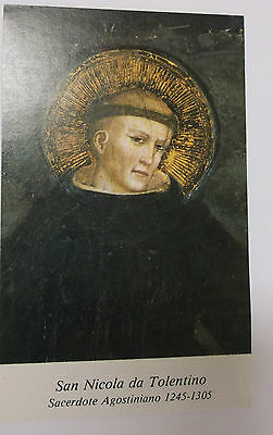 Saint Nicholas of Tolentino Prayer Card, From Italy