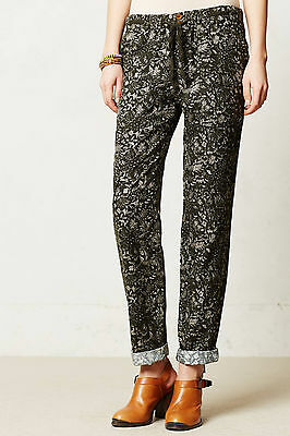 Marrakech Nottingham Drawstring Pants Sizes 25 27 Moss NW ANTHROPOLOGIE Tag