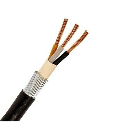 25M - 10mm 6943X 3 CORE SWA STEEL WIRE ARMOURED CABLE ARMOUR.FREE DELIVERY
