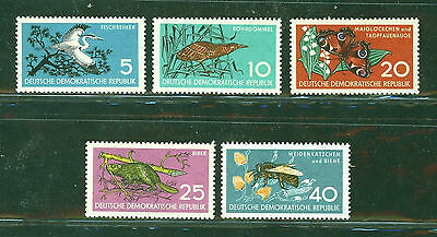 ALEMANIA/RDA EAST GERMANY 1959 MNH SC.434/38 Wildlife Protection