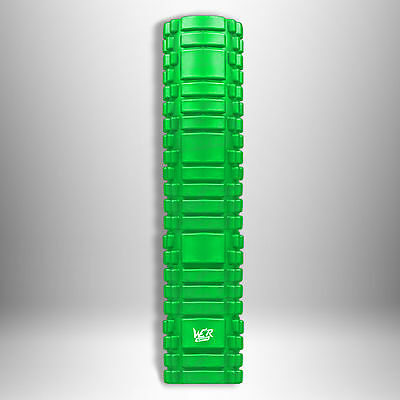 Grid Foam Roller Trigger Point Gym Pilates Massage Physio Injury Yoga Green 61cm