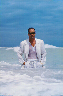 Poster: Tv Actor: Don Johnson - Miami Vice - In Ocean - Free Ship #15-416  Rc3 H