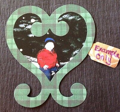 "HEART PICTURE FRAME LG.Die-Cuts(6pc) 4-7/8""x4-3/8""Love•Valentines•Made in USA"