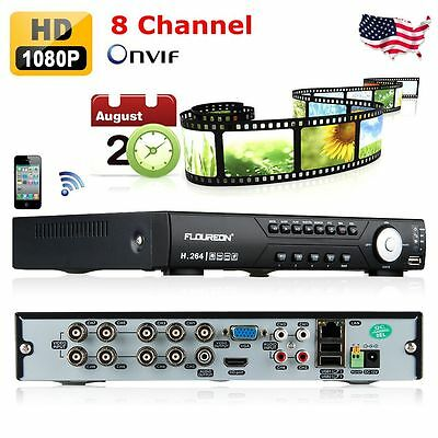 8CH Channel Full D1 H.264 Cloud DVR CCTV Home Security System Video Recorder USA