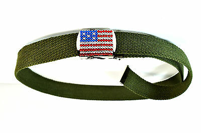UNIQUE MILITARY COLOR PATRIOTIC HOT USA FLAG BELT BRAND NEW AMERICAN THEME MZ1