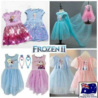 Clearance Girl Frozen Princess Queen Elsa Party Birthday Dress Costume size3-12Y