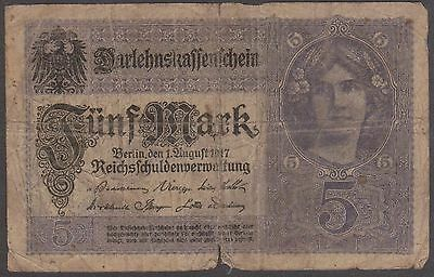 (Q4-60) 1917 Germany 5M bank note
