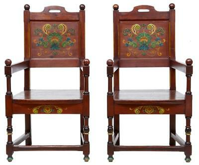 Pair Of 19Th Century Painted Pine Swedish Armchairs
