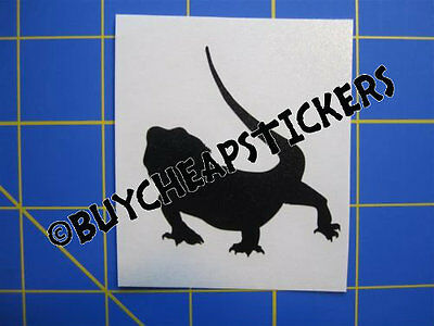 Bearded Dragon Silhouette Vinyl Decal - Sticker 6x6 - Any Color
